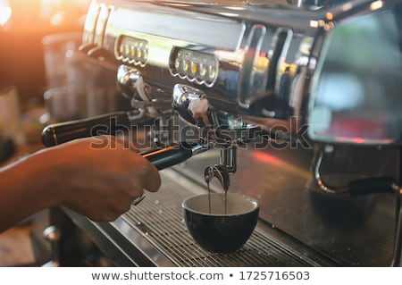 italian espresso coffee cup on counter in cafeteria stock photo © diego_cervo