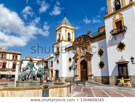 Fountain on Socorro square in Ronda, Spain stock photo © serpla