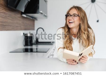 mutlu · ev · kadını · modern · mutfak · güzel - stok fotoğraf © ssuaphoto