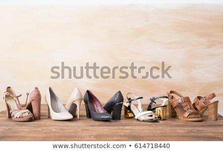 Stok fotoğraf: Kadın · ayakkabı · ahşap · doku · sihir · yalıtılmış · düğün