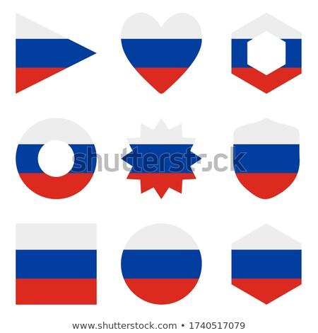 Сток-фото: Россия · флаг · шестиугольник · икона · кнопки · Мир