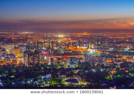 Eindruck Nacht Landschaft asia Stadt Vietnam Stock foto © xuanhuongho