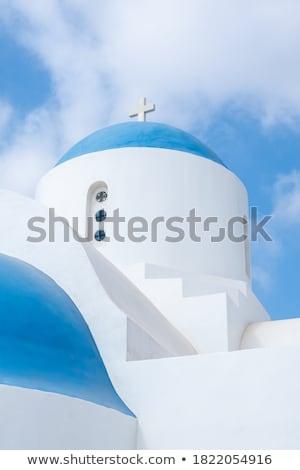 igreja · colina · estrada · paisagem · campo · caminho - foto stock © kirill_m