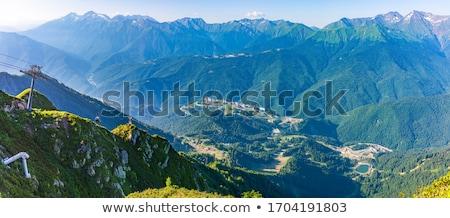 Coucher du soleil élevé montagne gamme vue parc Photo stock © Yongkiet