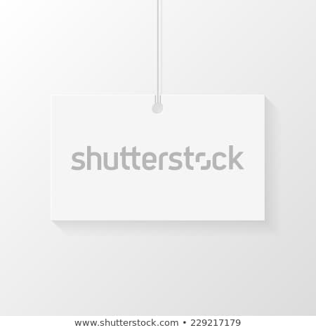 Сard hanged on shoelace. Place for business card or logo Stock photo © Designer_things