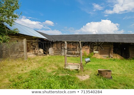 Old farmyard fence stock photo © hraska