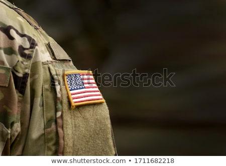 Veteraan soldaat afbeelding Amerikaanse vlag grafische Stockfoto © cteconsulting