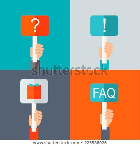 Importante perguntas perguntar vermelho fora escuro Foto stock © 3mc