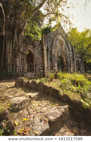 kapel · ruïneren · dorp · eiland · hemel - stockfoto © olandsfokus