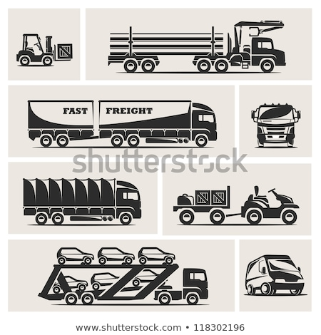 Front loader driver cartoon Stock photo © patrimonio