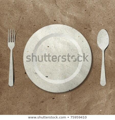 vintage · tafelgerei · metaal · oude · stijl · selectieve · aandacht - stockfoto © dariazu