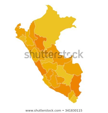силуэта карта Перу знак белый Сток-фото © mayboro