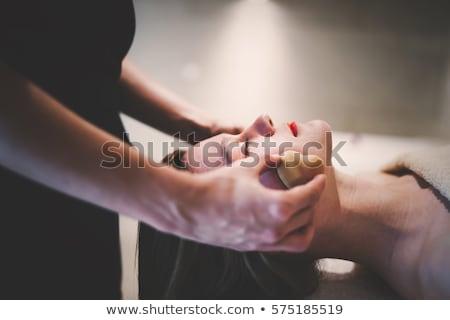 массажист Spa салон красоты рабочих взрослый диване Сток-фото © HASLOO