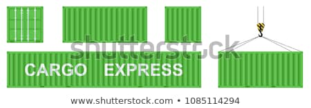 Commerce international vert suspendu fret contenant crochet Photo stock © tashatuvango