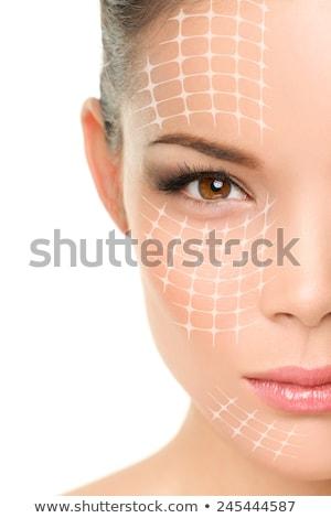 gezicht · lift · behandeling · asian · vrouw · gezicht - stockfoto © maridav