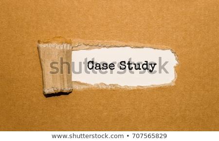 場合 研究 引き裂かれた紙 文字 後ろ 引き裂か ストックフォト © ivelin