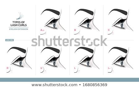 szempilla · kép · csinos · női · néz · tükör - stock fotó © pressmaster