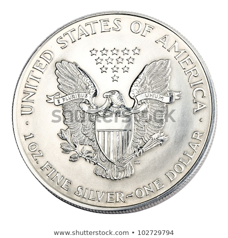 um · dólar · prata · moeda · azul · negócio - foto stock © Relu1907
