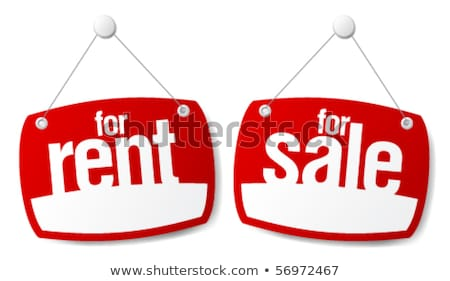 Home for sale sign Illustration clipart Stock photo © kgtoh