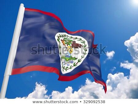 zászló · Belize · szél · textúra · háttér · fehér - stock fotó © mikhailmishchenko