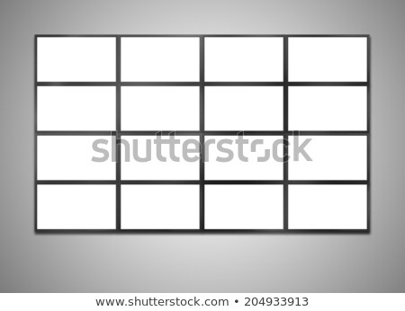 Moderne breedbeeld lcd monitor geïsoleerd witte Stockfoto © tashatuvango