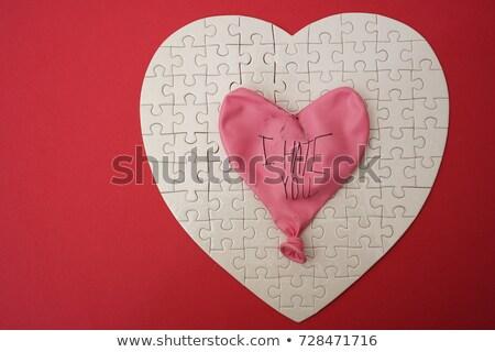 Hating - White Word on Red Puzzles.  Stock photo © tashatuvango