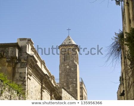 Church of the Flagellation Tower, Station II on Via Dolorosa, Jerusalem Old City.  Stock photo © Zhukow