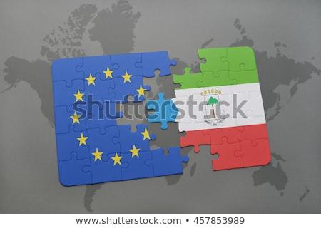 Europeu união Guiné Equatorial bandeiras quebra-cabeça vetor Foto stock © Istanbul2009