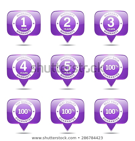 Warranty Guarantee Seal Square Vector Violet Icon Design Set Stock photo © rizwanali3d