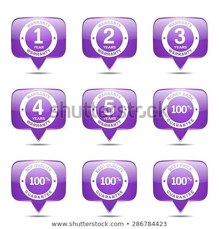 warranty guarantee seal square vector violet icon design set stock photo © rizwanali3d