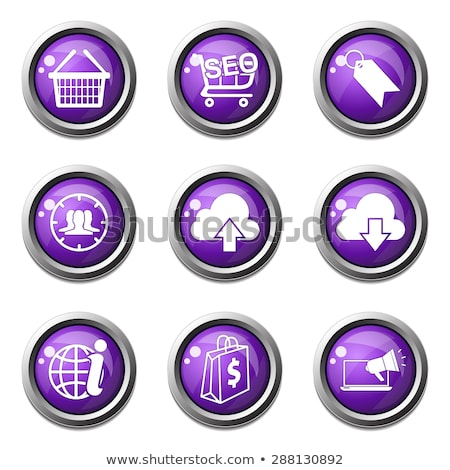 SEO Internet Sign Violet Vector Button Icon Design Set 7 Stock photo © rizwanali3d