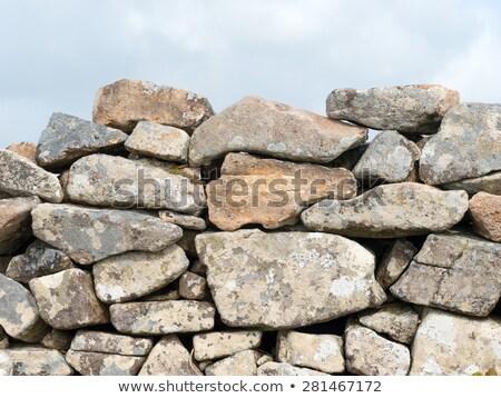 древних высушите каменной стеной небе стены Сток-фото © latent