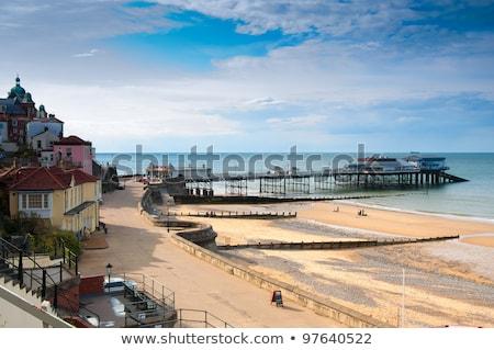 Móló észak Norfolk Anglia tengerpart égbolt Stock fotó © chris2766