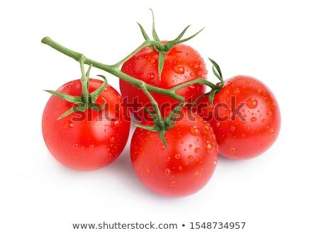 tomates · ramo · vermelho · grande · verão · verde - foto stock © konturvid