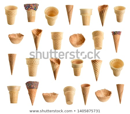 Ostya kúp fehér háttér desszert fagylalt Stock fotó © homydesign