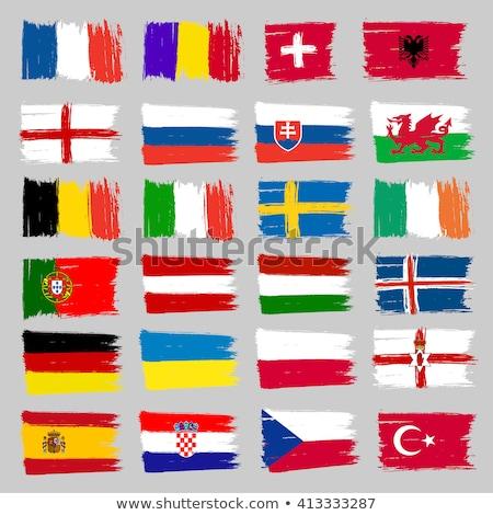 Suíça Albânia bandeiras quebra-cabeça isolado branco Foto stock © Istanbul2009