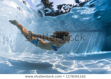 belle · Homme · jambes · piscine · image · vacances - photo stock © deandrobot