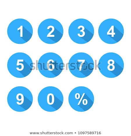 0 Number Vector blue Web Icon Stock photo © rizwanali3d