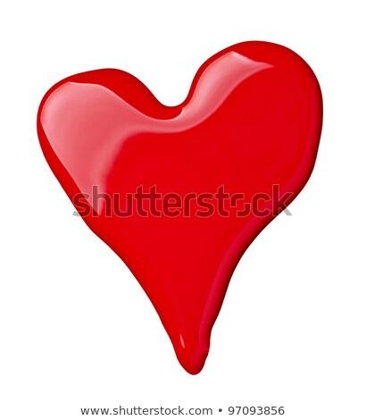 close up of nail polish heart shapes on white background stock photo © tetkoren