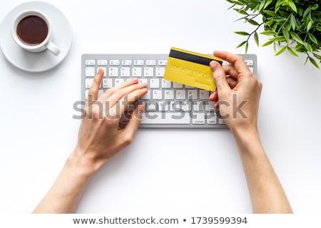 Geld kaart toetsenbord creditcard online bancaire Stockfoto © jordanrusev