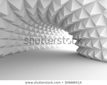 3D resumen túnel tubo oscuro construcción Foto stock © m_pavlov