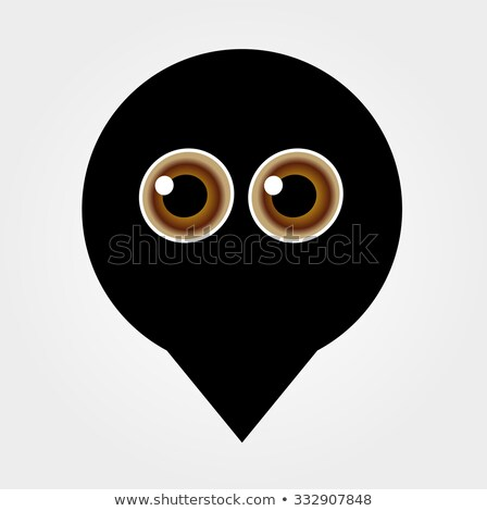 A placement with cute ghost having hazel eyes  Stock photo © shawlinmohd