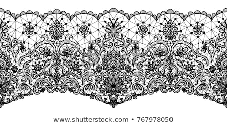 decorativo · preto · renda · isolado · branco · textura - foto stock © ruslanomega