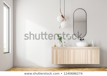 Cozy bathroom with a hanging drawer Stock photo © jrstock