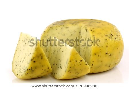 snack salty cheese with herbs stock photo © peredniankina