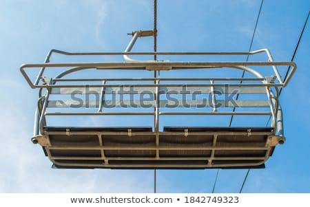 Kayak · asansör · örnek · kız · doğa · çift - stok fotoğraf © dash