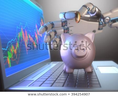 robot · kereskedő · illusztráció · számítógép · iroda · technológia - stock fotó © idesign