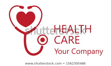 Stethoscope with hearth Stock photo © attilafazekas