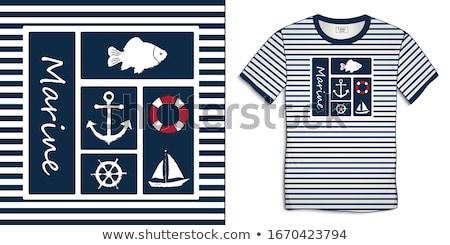 女性 · 船乗り · 海洋 · 笑顔 · ファッション · 夏 - ストックフォト © elnur
