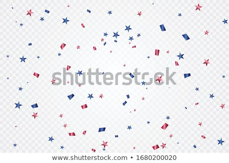 patriotique · confettis · star · parfait · élection - photo stock © klikk